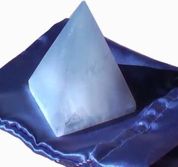 Selenite Pyramid Crystal for Sale and Healing in the Bedroom.