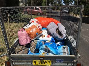 Box Trailer Half Full with Feed for Wildlife up North to Share with Landholders