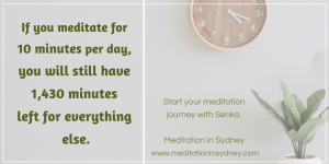 Ten 10 minute guided meditation infographic - Ocean meditation by nature with Senka