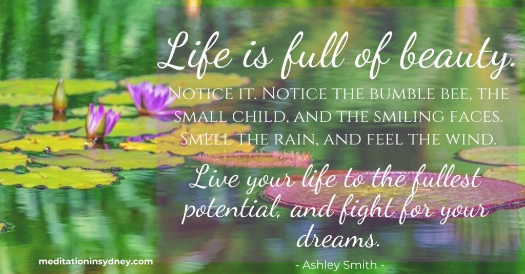 Life is full of Beauty Quote - Guided Meditation to Reduce Anxiety, Stress and Help You Sleep