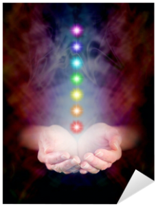 The arrangement order and colours of the 7 main chakras