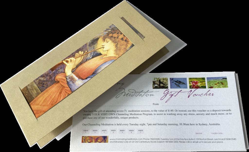 meditation gift voucher for guided meditations in Sydney by Senka